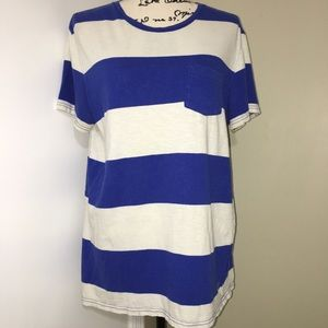 American Eagle Blue Stripes Tee